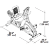 Kép 6/6 - Nautilus R628 háttámlás ergométer