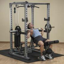 Body-Solid Erőkeret hátgéppel, lapsúllyal és univerzális paddal