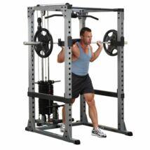 Body-Solid Erőkeret hátgéppel és lapsúllyal