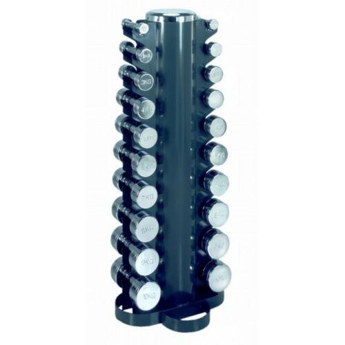 Dumbbell Tower súlyzótartó állvány 10 pár fix kézisúlyzóhoz