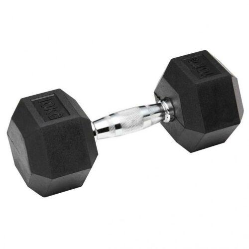 Hatszögletű gumírozott fix súlyzó 12 kg - 50 kg