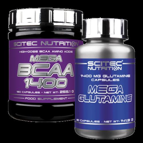 Mega BCAA + Mega Glutamine (szett)