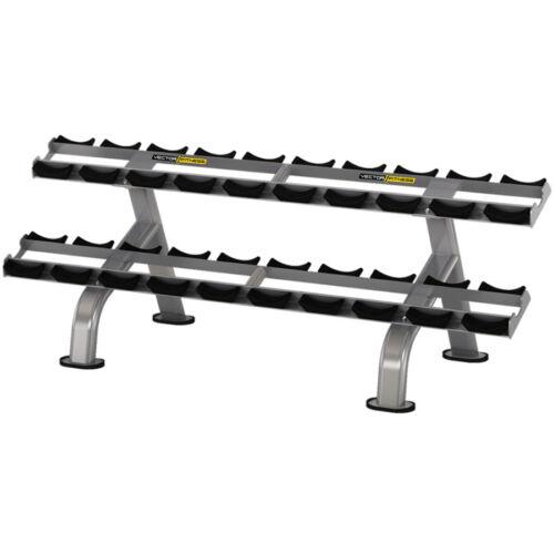 Vector Fitness 2 soros súlyzótartó állvány 10 pár súlyzóhoz