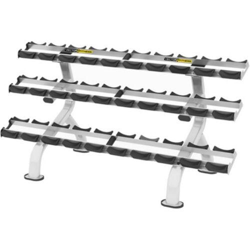 Vector Fitness 3 soros súlyzótartó állvány 15 pár súlyzóhoz