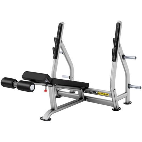 Vector Fitness negatív fekvenyomó pad súlytárcsa tartóval